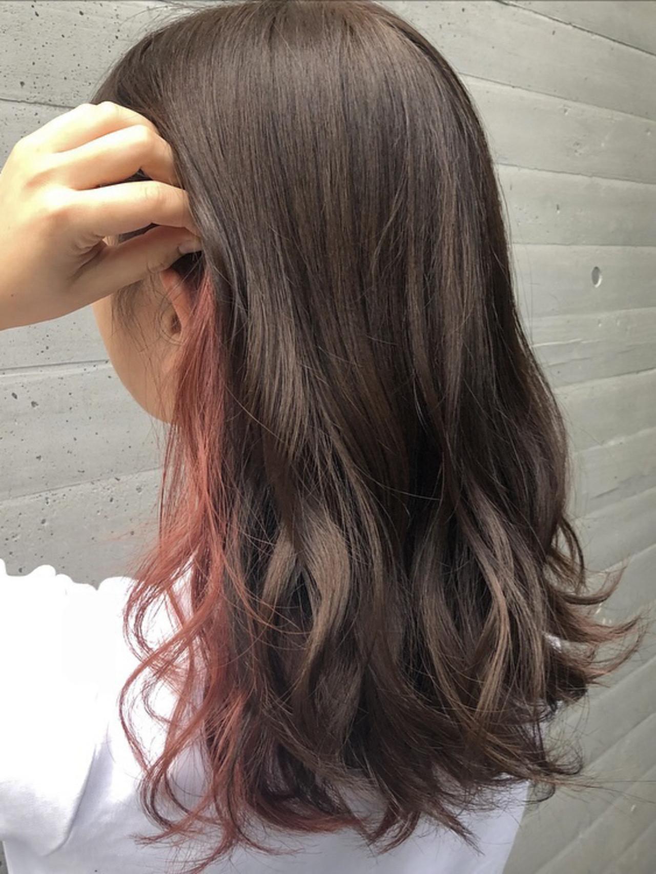 外国人風カラー ミディアム ベリーピンク ラベンダーピンク ヘアスタイルや髪型の写真・画像 | [ALIVE] 石井大夢 / ALIVE