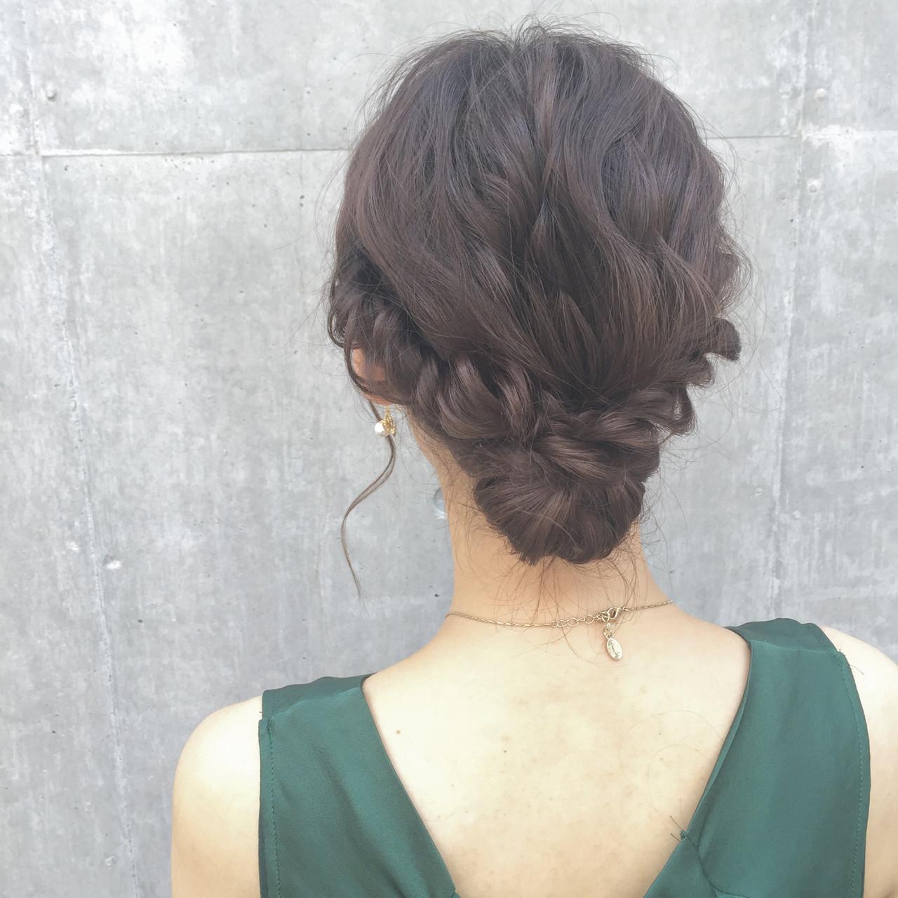 ルーズ ヘアアレンジ パーティ ボブ ヘアスタイルや髪型の写真・画像