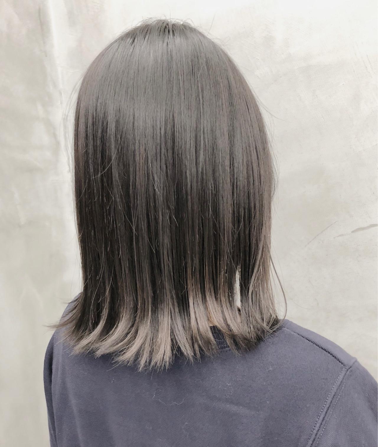 イルミナカラー ブリーチなし ブリーチ ナチュラル ヘアスタイルや髪型の写真・画像