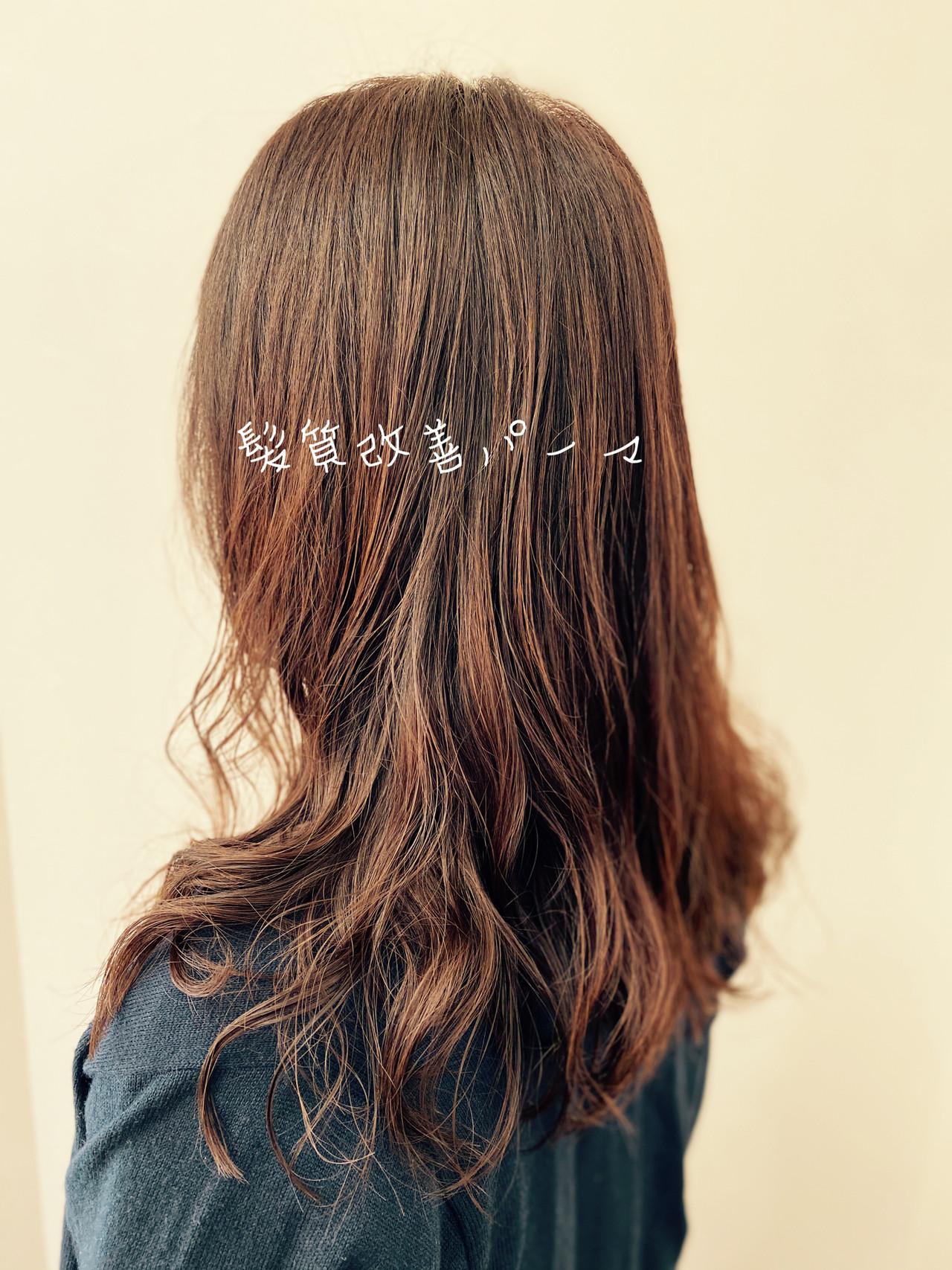 デジタルパーマ セミロング エレガント ゆるふわパーマ ヘアスタイルや髪型の写真・画像