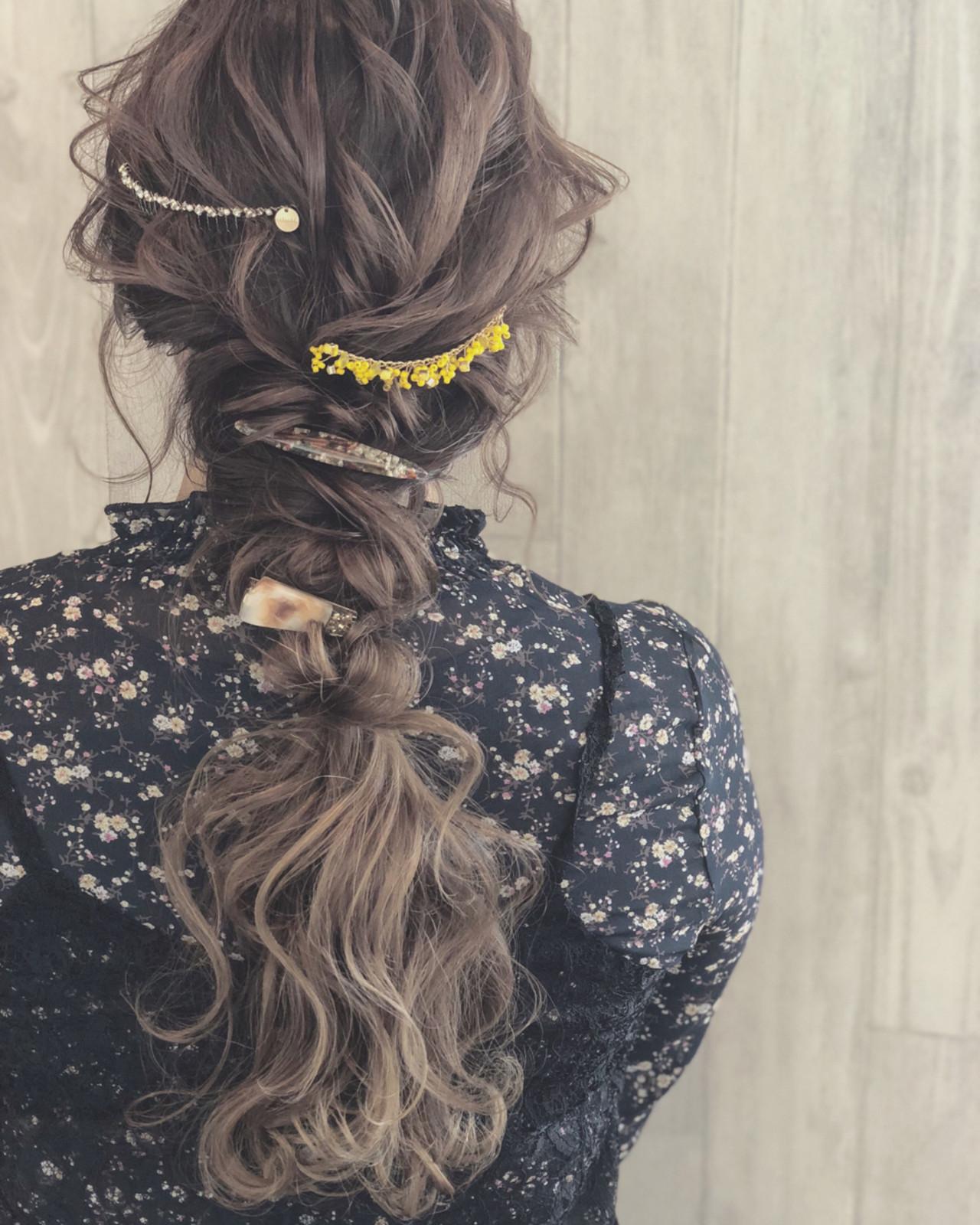 謝恩会 ヘアアレンジ ゆるふわ ナチュラル ヘアスタイルや髪型の写真・画像