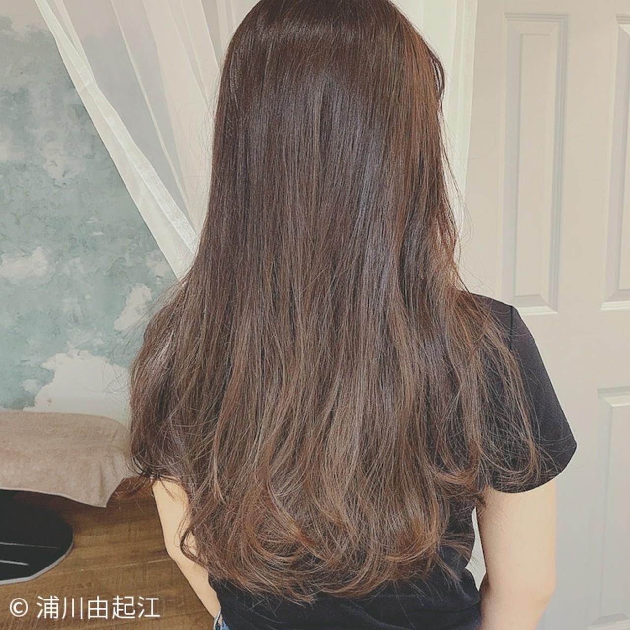 モテ髪 秋冬スタイル デート ロング ヘアスタイルや髪型の写真・画像
