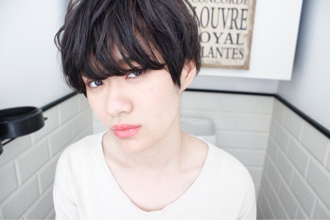 前髪あり 外国人風 パーマ 黒髪 ヘアスタイルや髪型の写真・画像 | 上田智久 / ooit 福岡 天神 / ooit