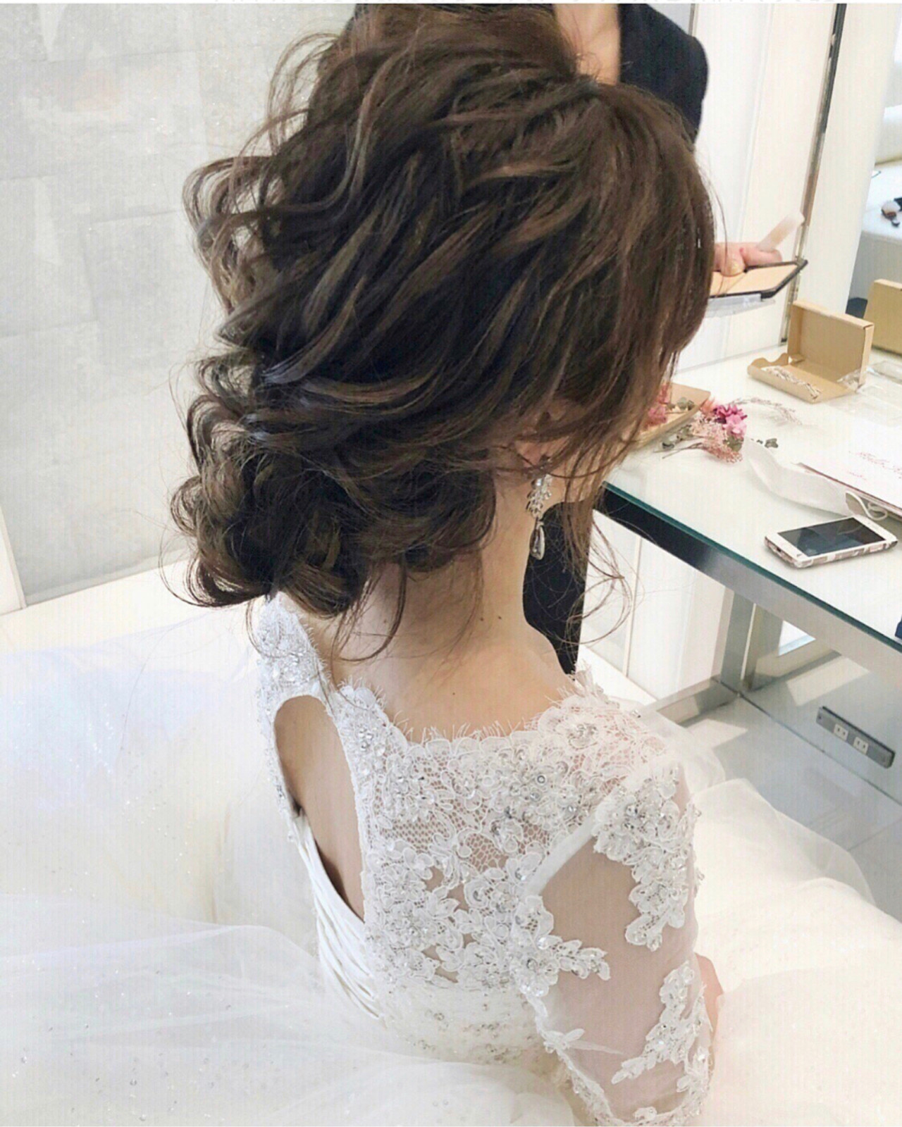 結婚式ヘアアレンジ フェミニン 大人かわいい おしゃれさんと繋がりたい ヘアスタイルや髪型の写真・画像