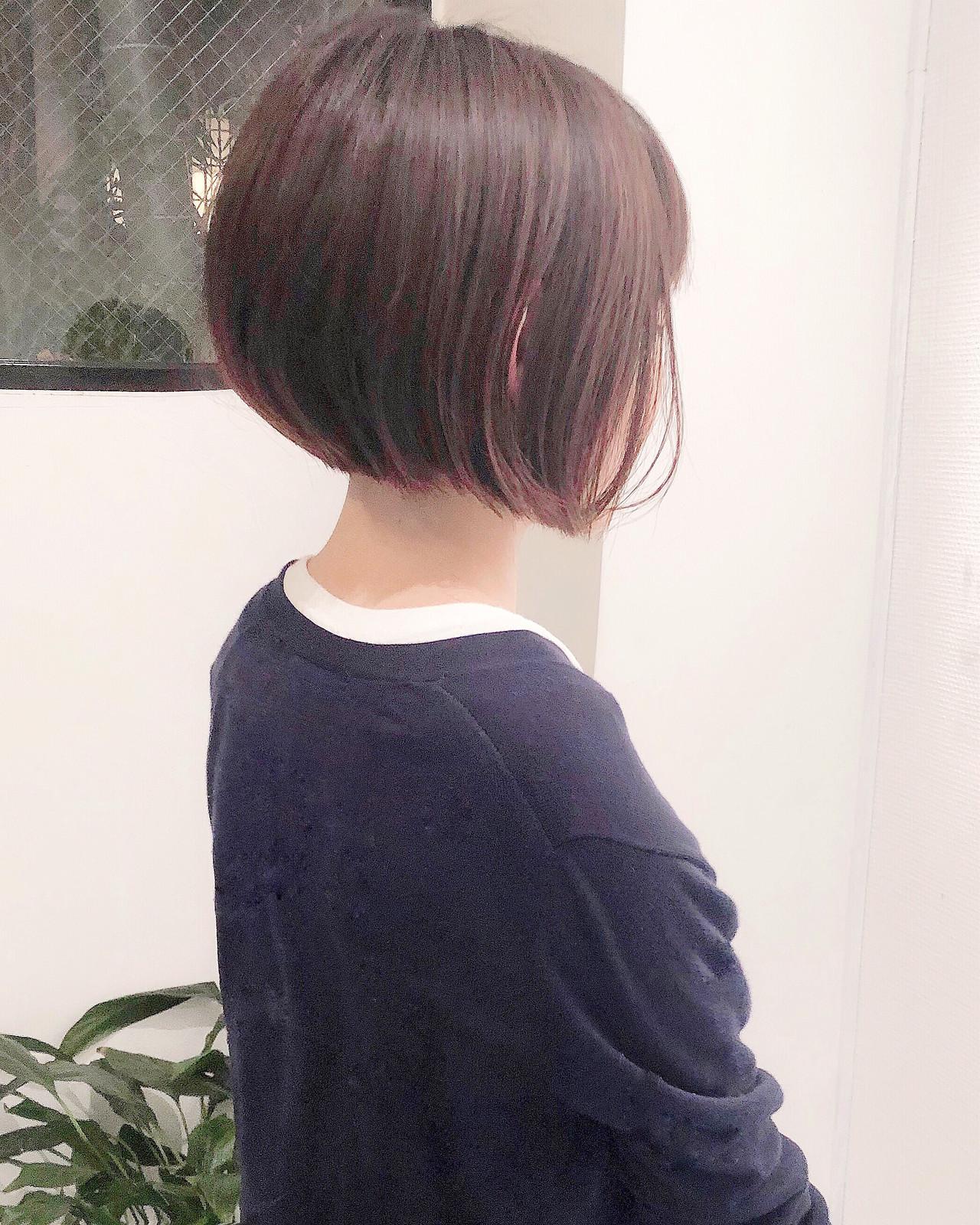 大人ショート ミニボブ 切りっぱなしボブ ショートヘア ヘアスタイルや髪型の写真・画像 | 郡司 泰之 / ROJITHA 原宿 / ROJITHA