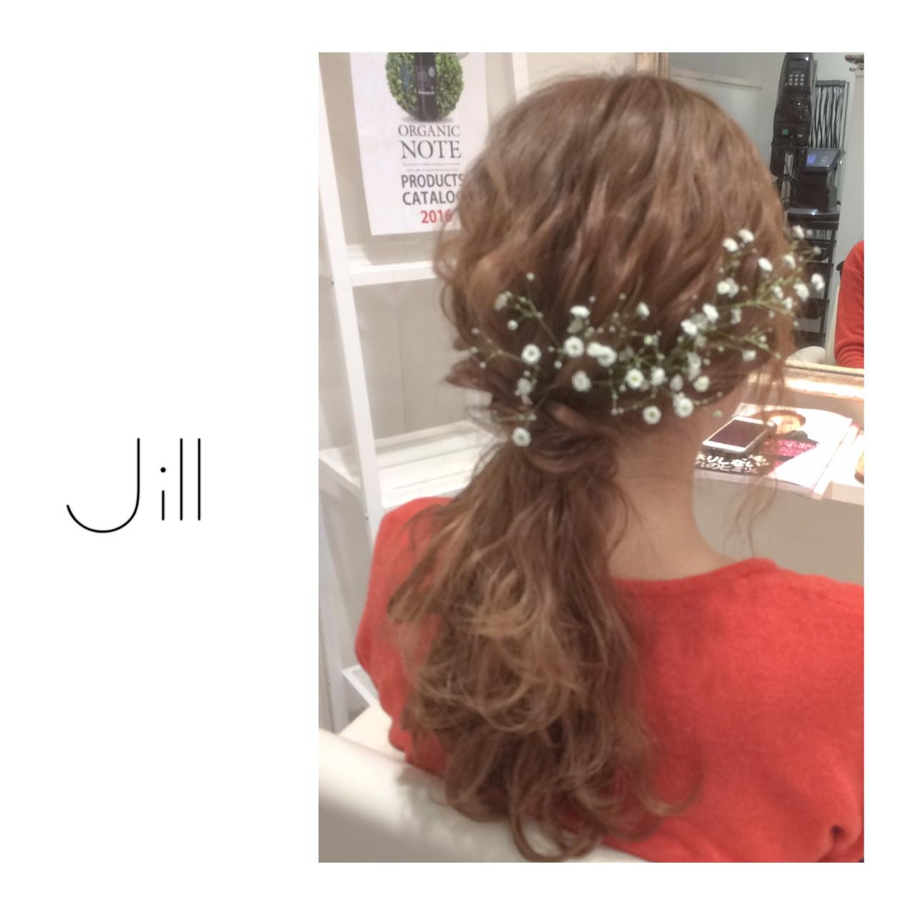 簡単ヘアアレンジ ショート ヘアアレンジ ブライダル ヘアスタイルや髪型の写真・画像 | 花房 佑典 / Jill / Hair Design Jill