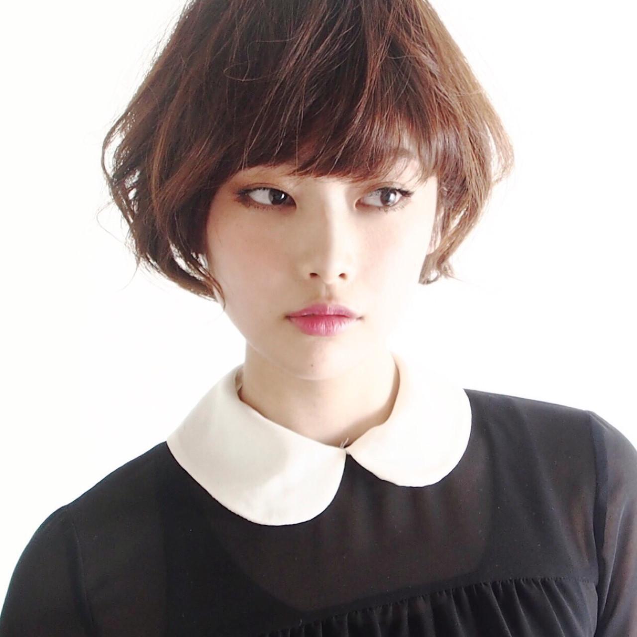 外国人風カラー 小顔 こなれ感 似合わせ ヘアスタイルや髪型の写真・画像