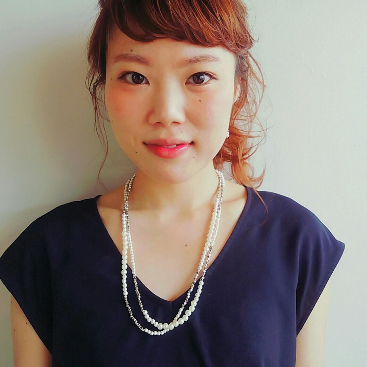 ヘアアレンジ 大人かわいい ナチュラル ロング ヘアスタイルや髪型の写真・画像 | 池田香織 / MODE K's