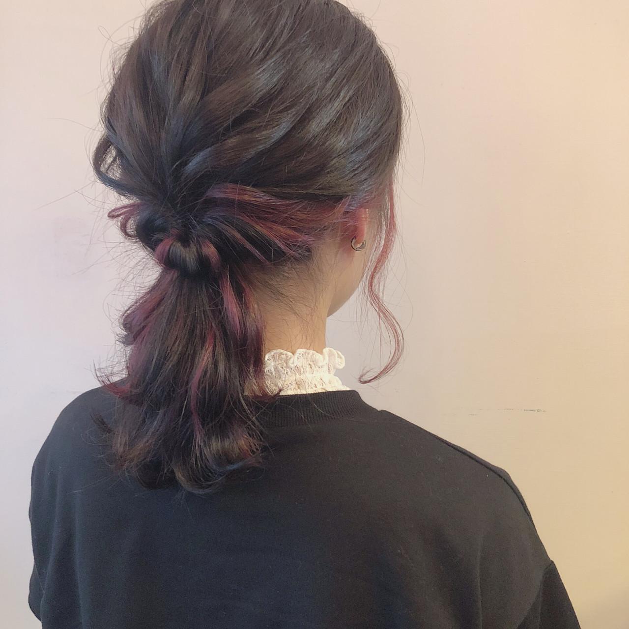 簡単ヘアアレンジ ミディアム ナチュラル ヘアアレンジ ヘアスタイルや髪型の写真・画像   多田 朱音 / JLB