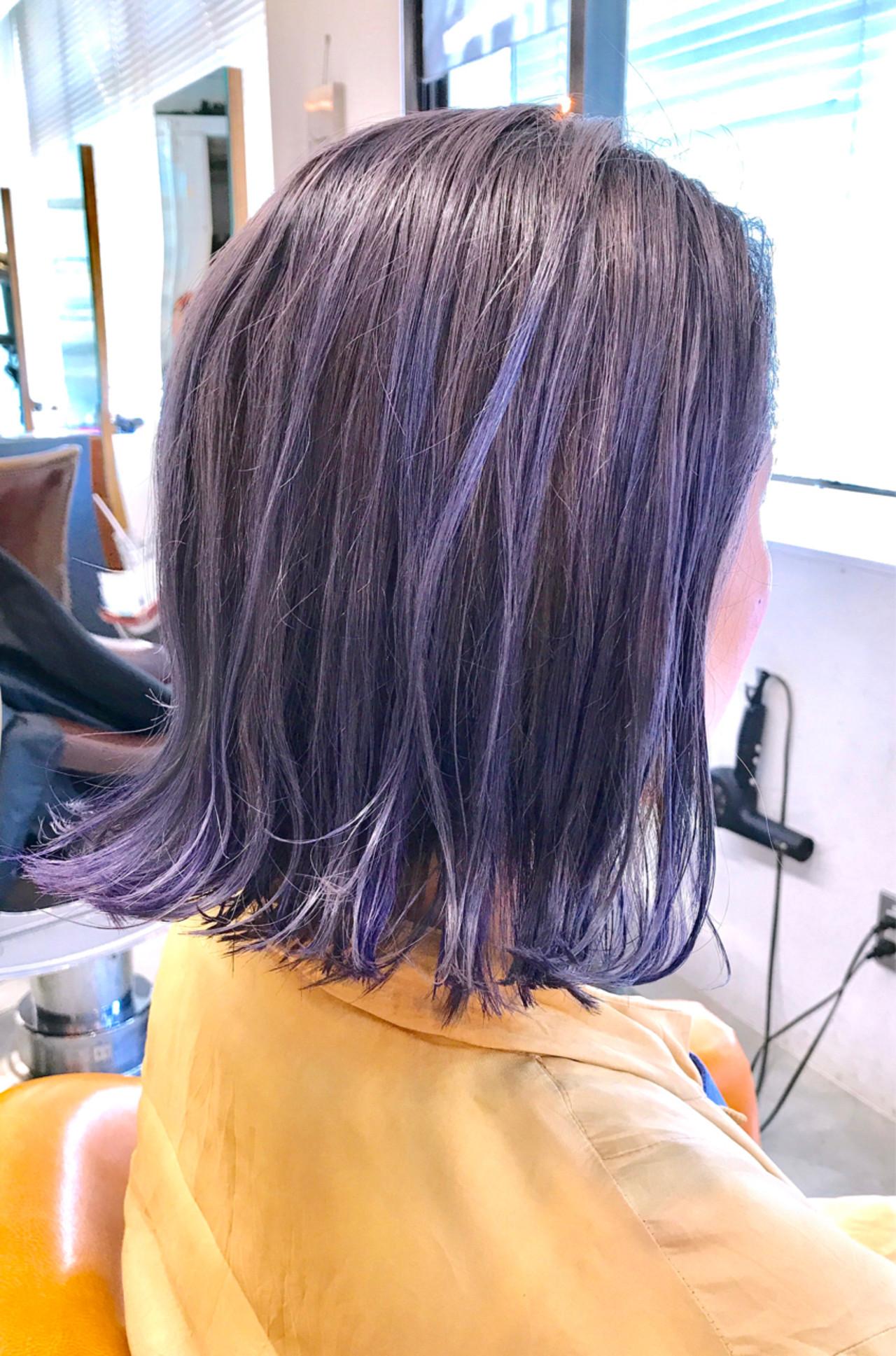 外国人風カラー インナーカラー ストリート グレージュ ヘアスタイルや髪型の写真・画像