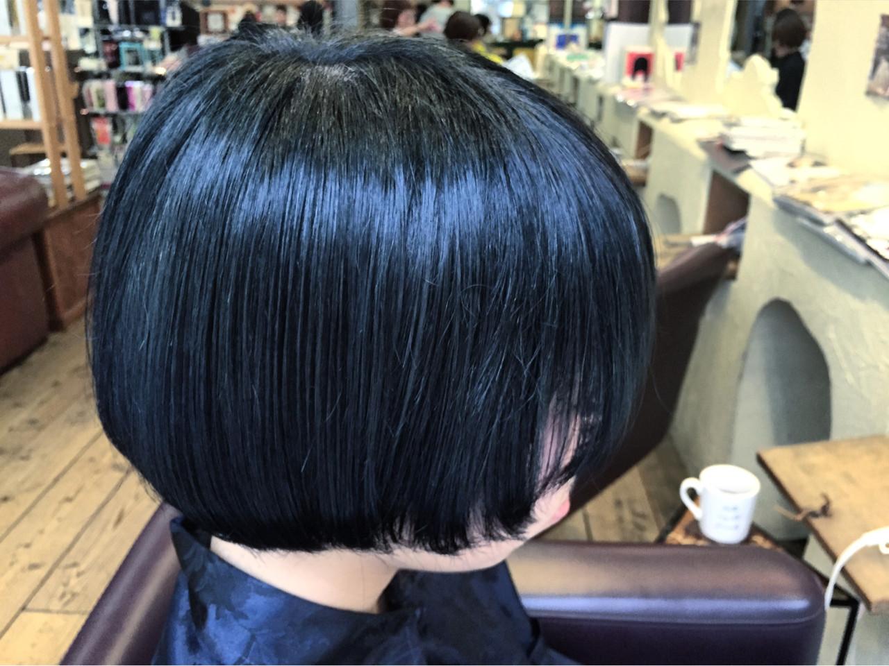 モード ショート ブルージュ ブルー ヘアスタイルや髪型の写真・画像 | 星野忍伸 / SHAMPOOBOY FLAP