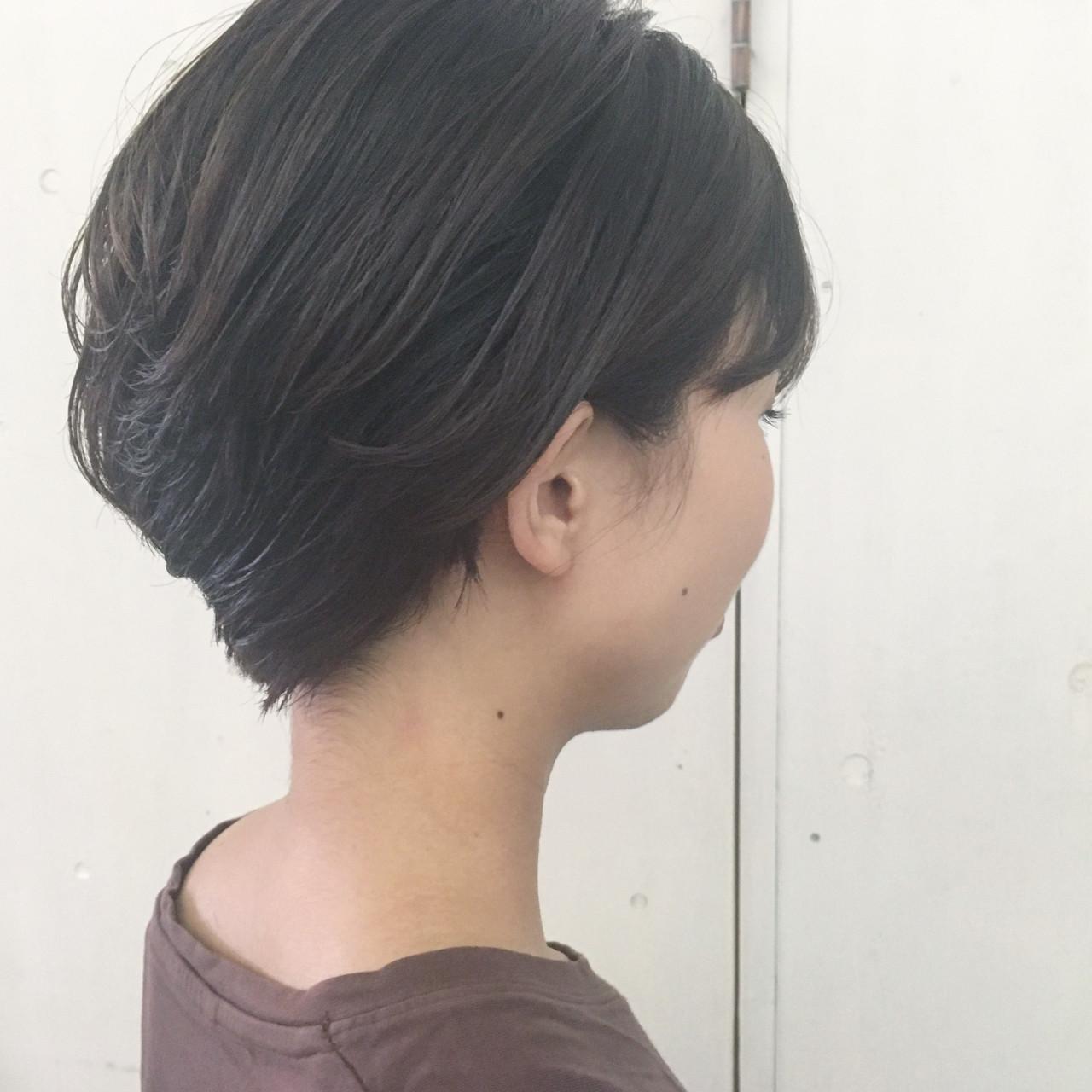 暗髪 大人かわいい ナチュラル ラフ ヘアスタイルや髪型の写真・画像