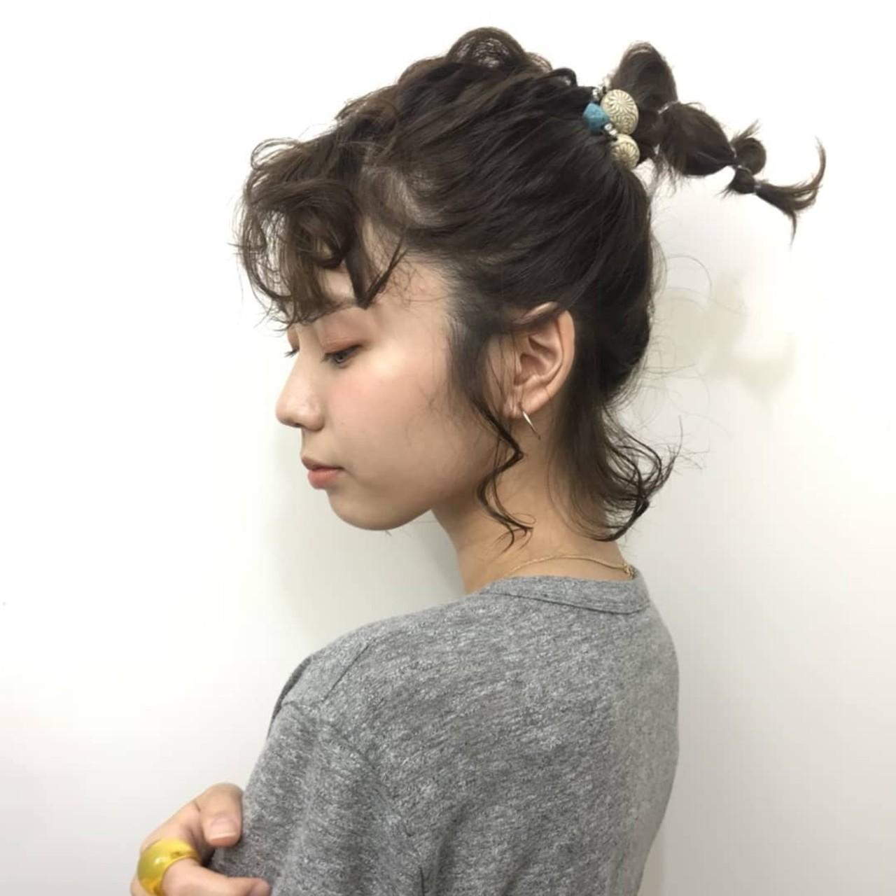 ボブ 抜け感 大人かわいい ヘアアレンジ ヘアスタイルや髪型の写真・画像   杉本侑菜 (すぎもと ありな) /