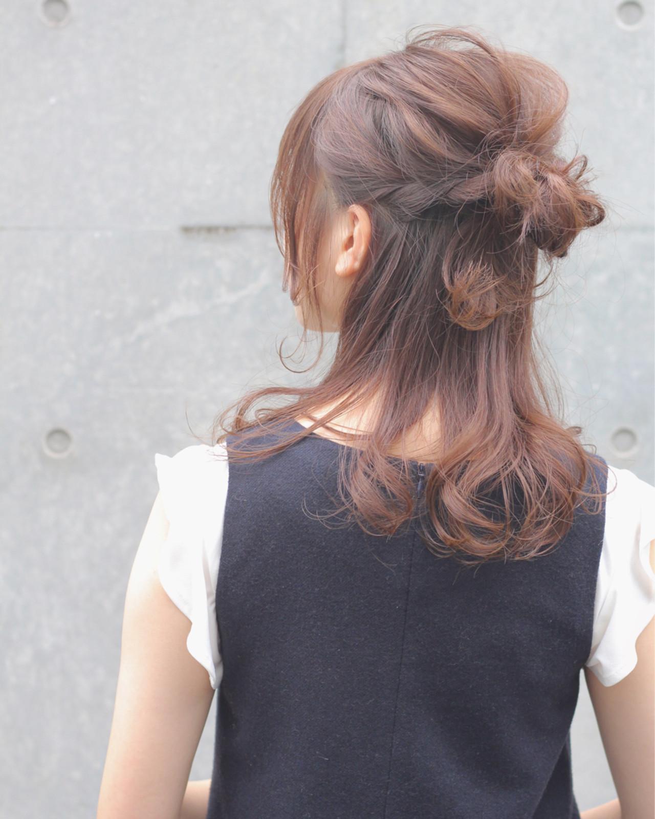 ミディアム デート 夏 涼しげ ヘアスタイルや髪型の写真・画像