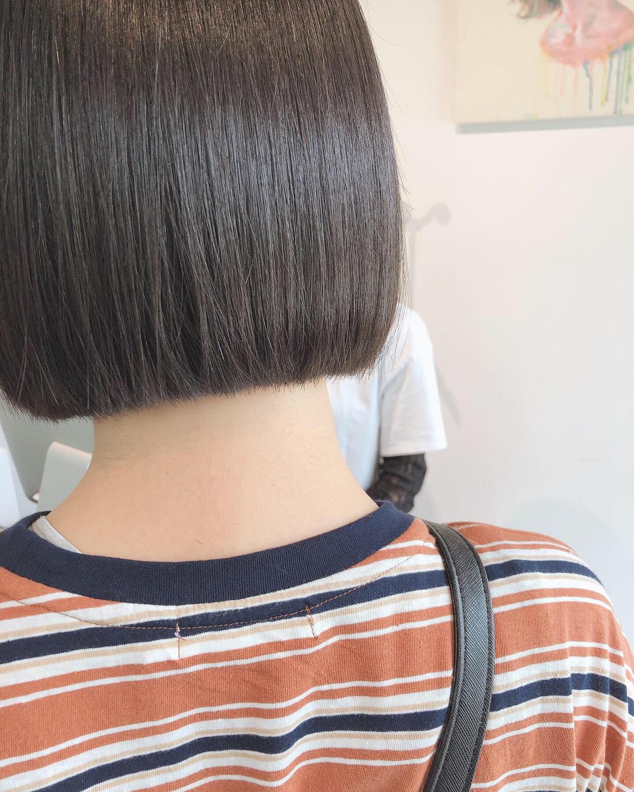 ミニボブ ボブ ナチュラル ショートボブ ヘアスタイルや髪型の写真・画像