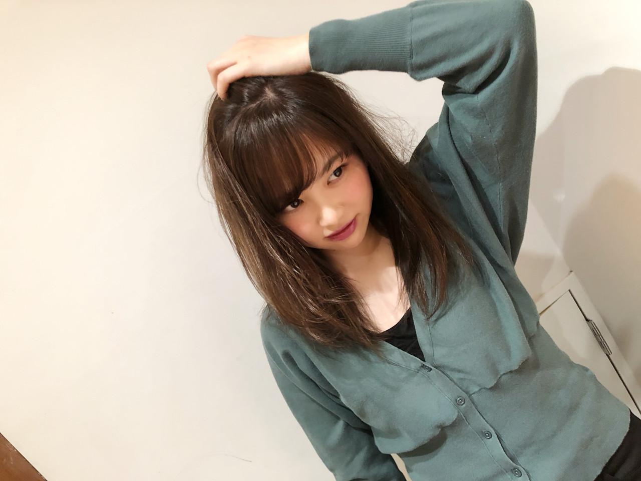 大人かわいい ベージュ ロング 外国人風カラー ヘアスタイルや髪型の写真・画像