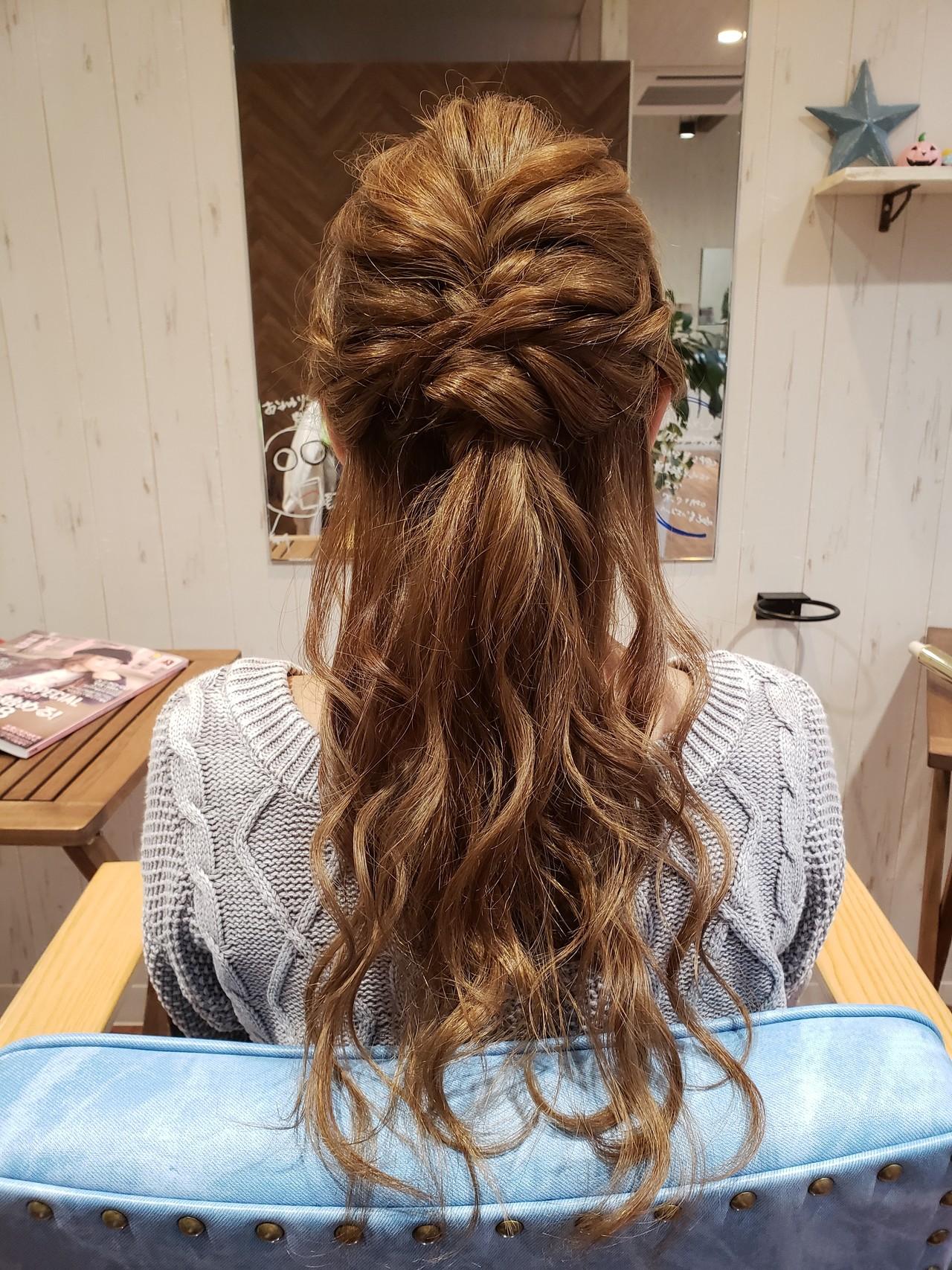 ロング 結婚式 ヘアアレンジ 大人かわいい ヘアスタイルや髪型の写真・画像 | 菅原匠 / Hair&Nail anchor by Laf