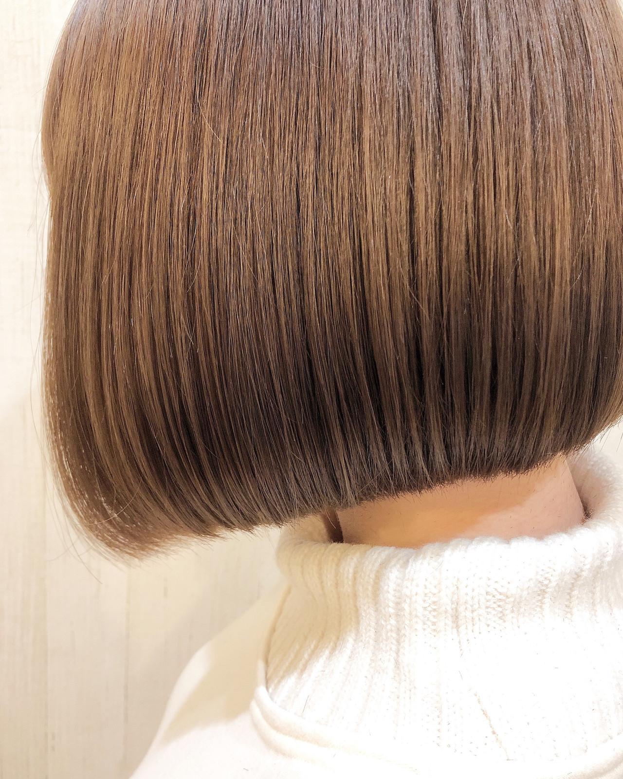 切りっぱなしボブ ショートヘア ベリーショート ショート ヘアスタイルや髪型の写真・画像 | 榎本樹道 / grandage