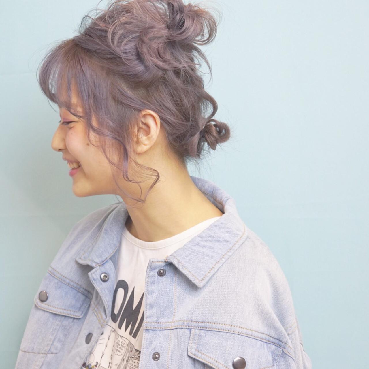 デート ガーリー ヘアアレンジ ナチュラル ヘアスタイルや髪型の写真・画像