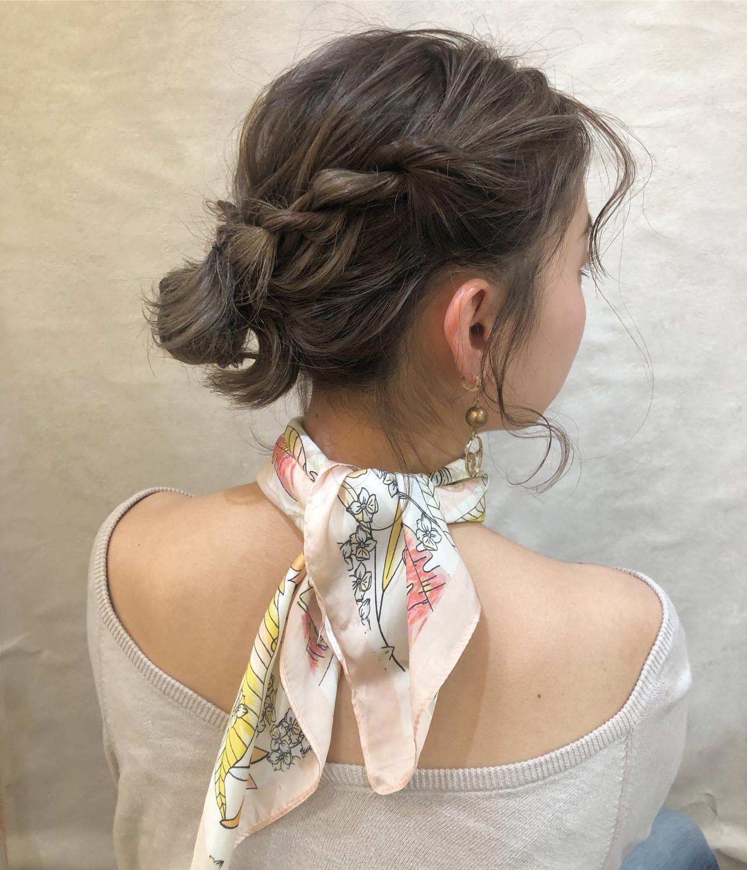 成人式 フェミニン デート ヘアアレンジ ヘアスタイルや髪型の写真・画像