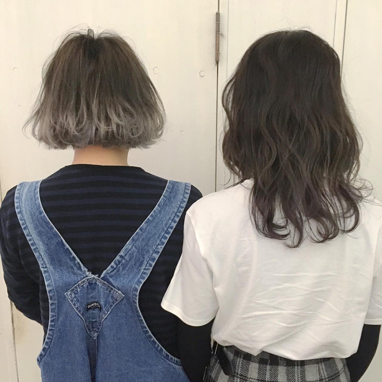 シルバー アッシュグラデーション アッシュ 外国人風カラー ヘアスタイルや髪型の写真・画像