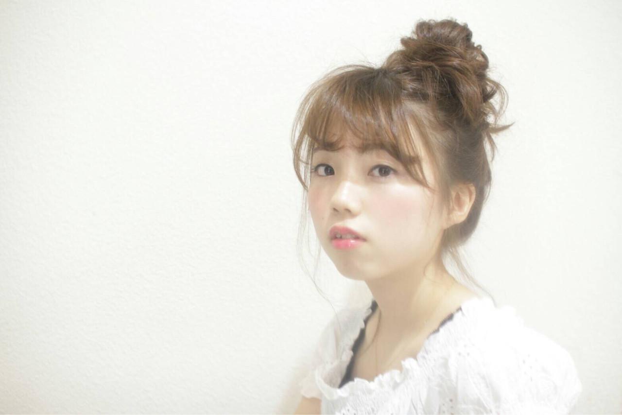 ロング ショート 前髪あり 簡単ヘアアレンジ ヘアスタイルや髪型の写真・画像 | 斉藤愛 / illume 佐倉