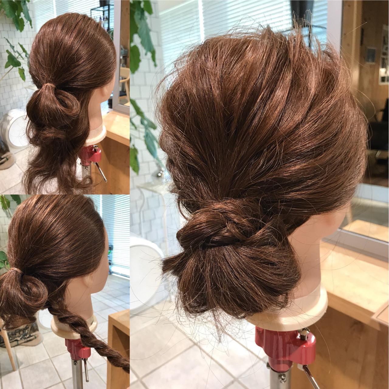 ナチュラル ショート 簡単ヘアアレンジ 簡単 ヘアスタイルや髪型の写真・画像