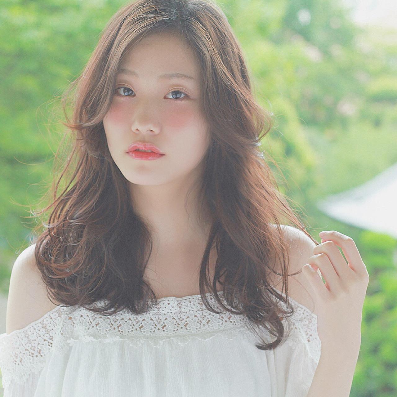 透明感 大人かわいい アンニュイ 外国人風 ヘアスタイルや髪型の写真・画像