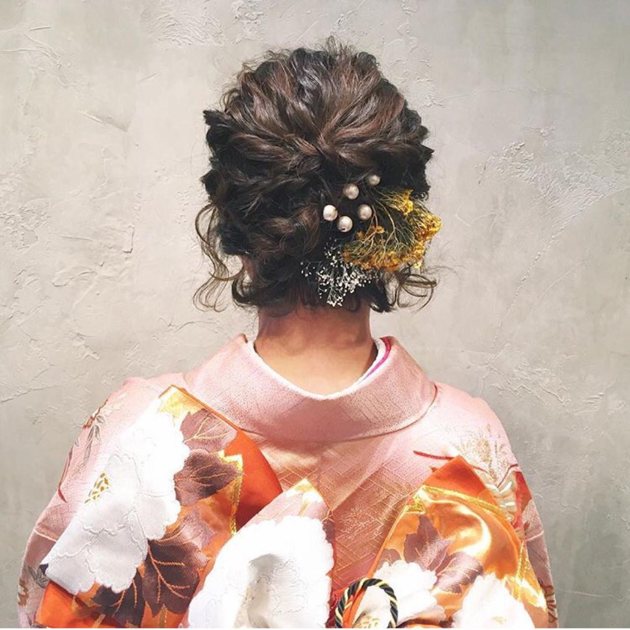 学校 ボブ 謝恩会 ヘアアレンジ ヘアスタイルや髪型の写真・画像