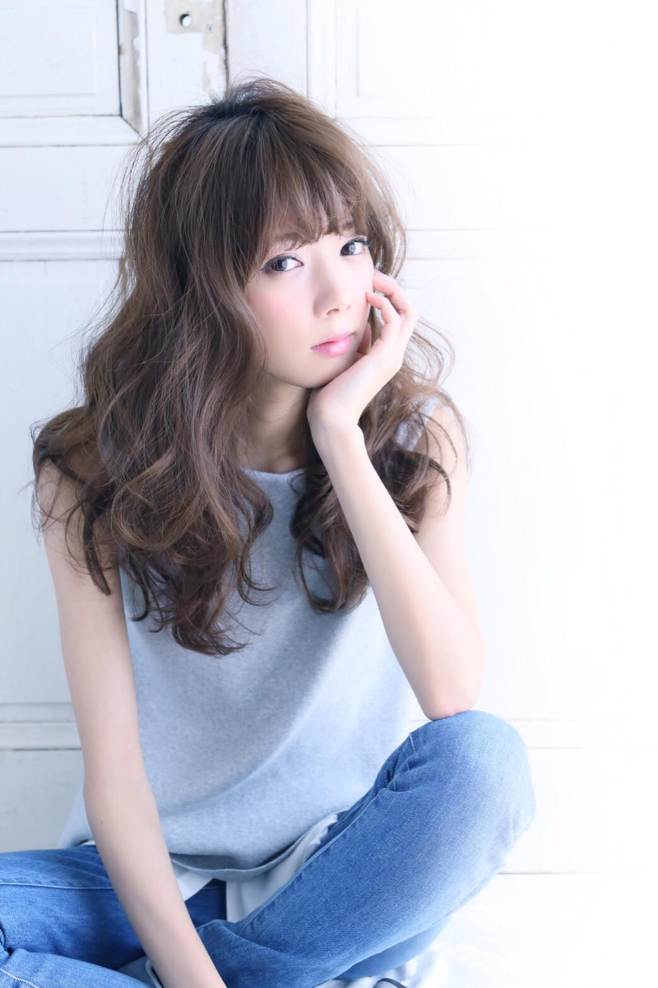 外国人風 モテ髪 パーマ ロング ヘアスタイルや髪型の写真・画像