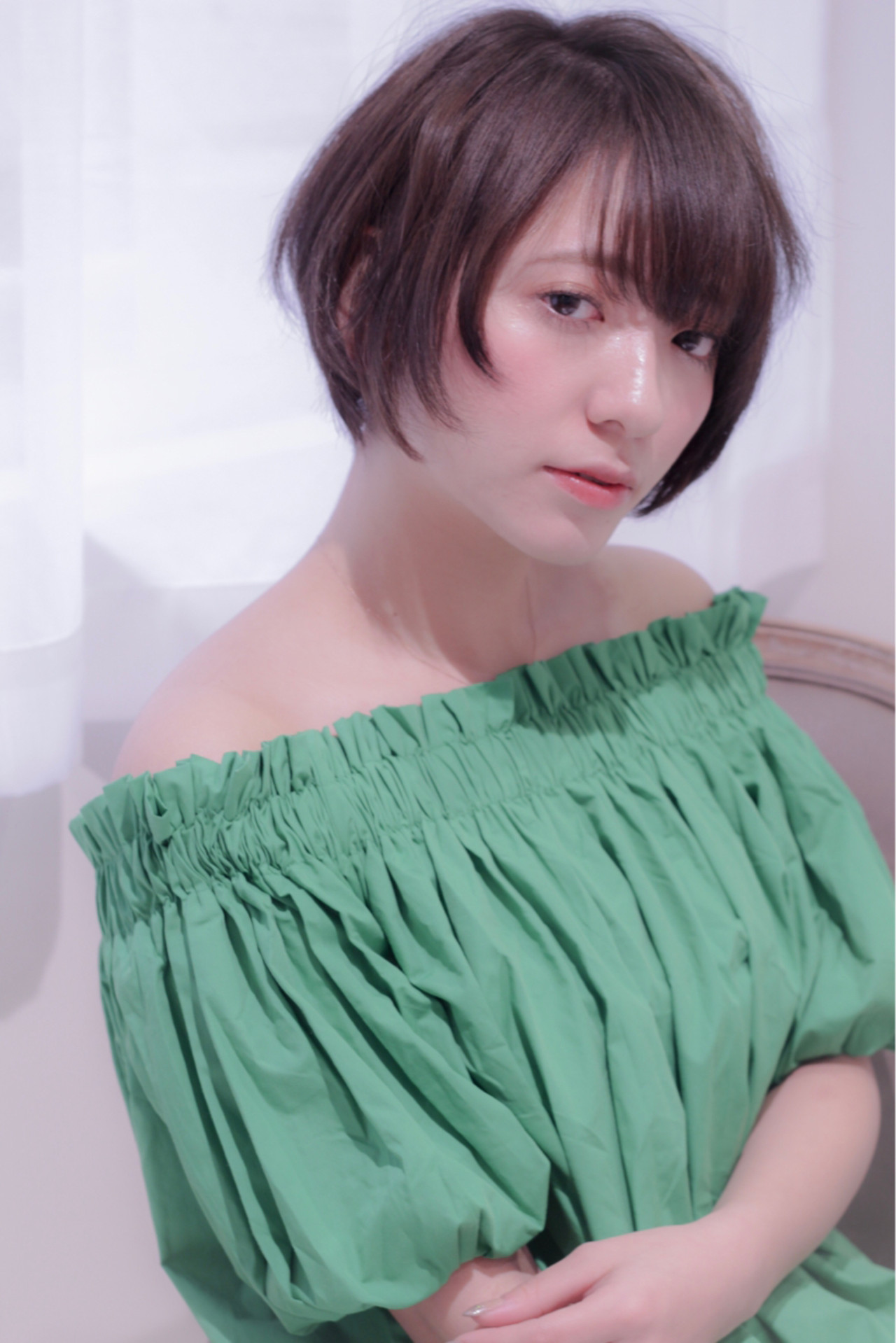 オフィス デート ショート ヘアアレンジ ヘアスタイルや髪型の写真・画像 | 大津 和樹 / cachette