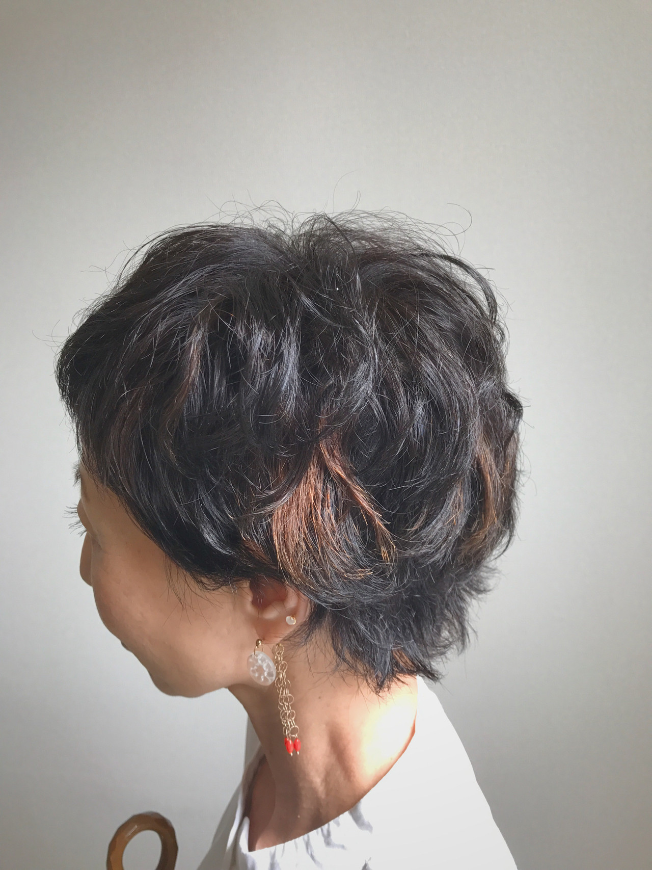 ゆるふわパーマ ストリート パーマ ショート ヘアスタイルや髪型の写真・画像