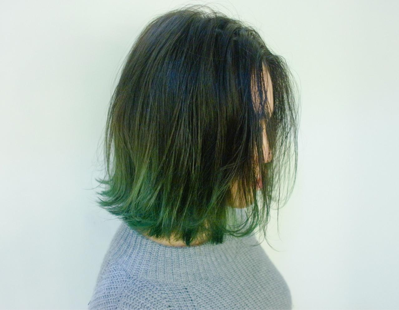 ボブ 外国人風 グラデーションカラー ストリート ヘアスタイルや髪型の写真・画像