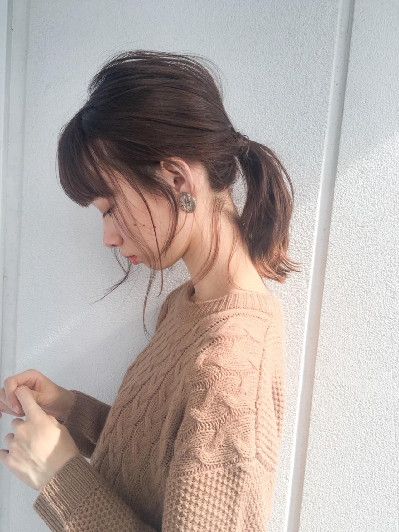 ヘアアレンジ 大人女子 ショート ミディアム ヘアスタイルや髪型の写真・画像