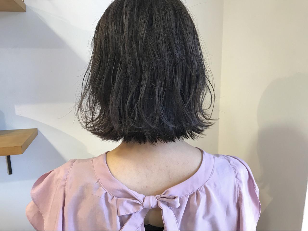 ボブ ハイライト 秋 透明感 ヘアスタイルや髪型の写真・画像