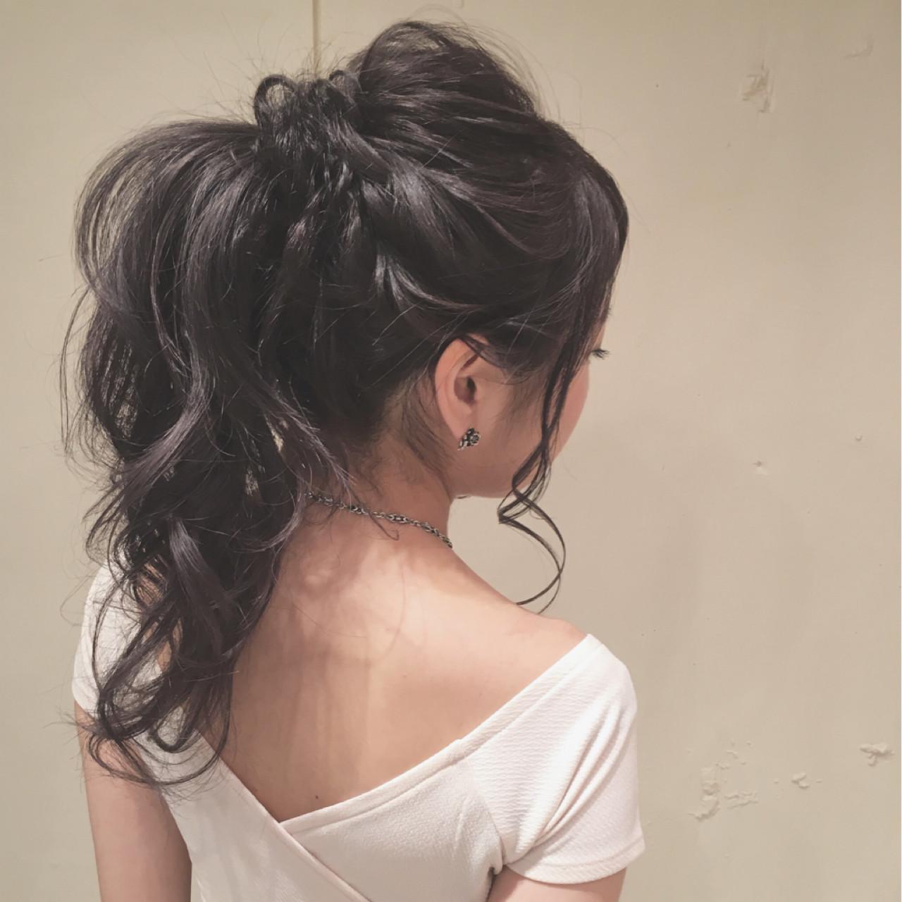 ヘアアレンジ ロング ゆるふわ ポニーテール ヘアスタイルや髪型の写真・画像
