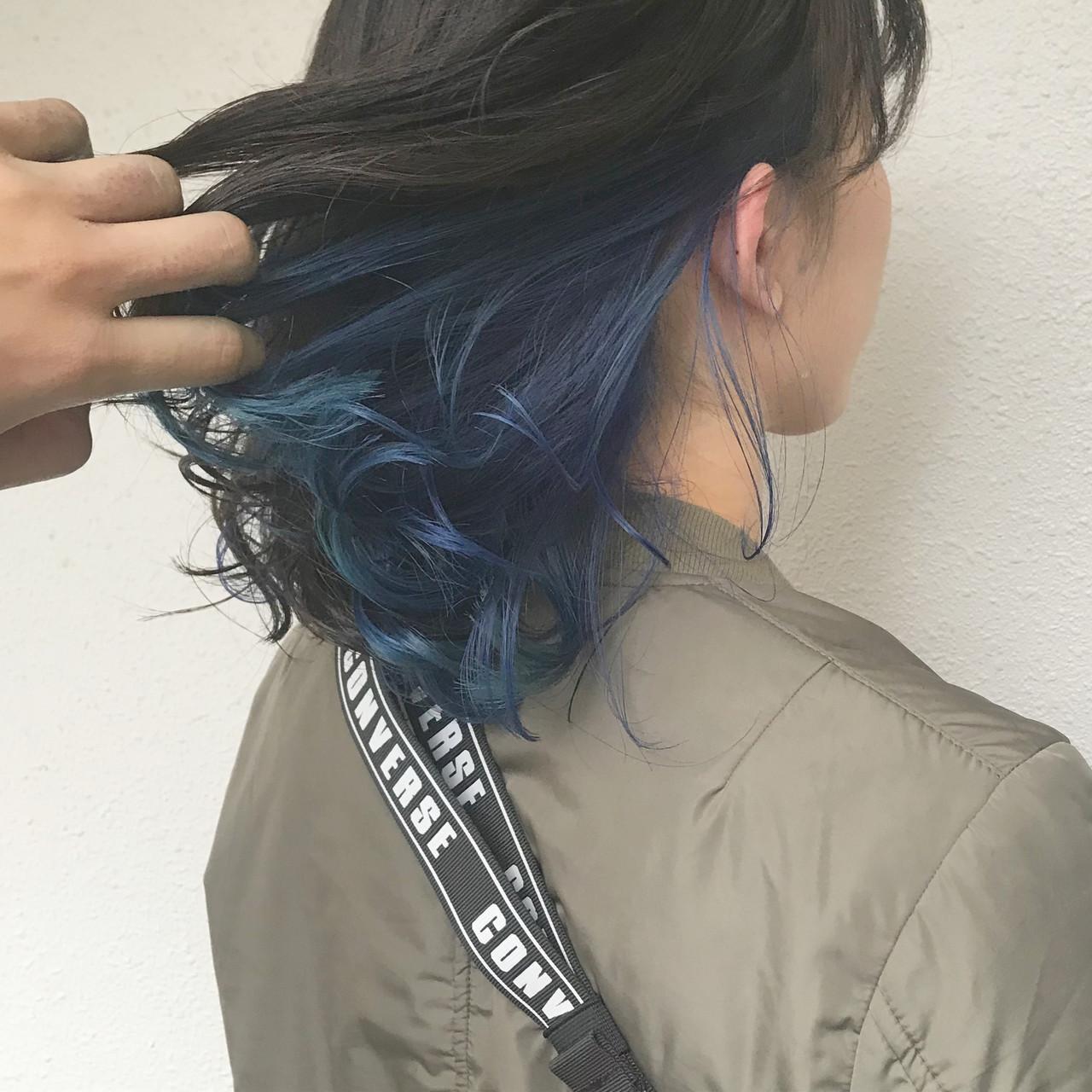 ゆるふわ ダブルカラー ストリート カラーバター ヘアスタイルや髪型の写真・画像 | ヨシダタイシ / CHERIE hairdesign