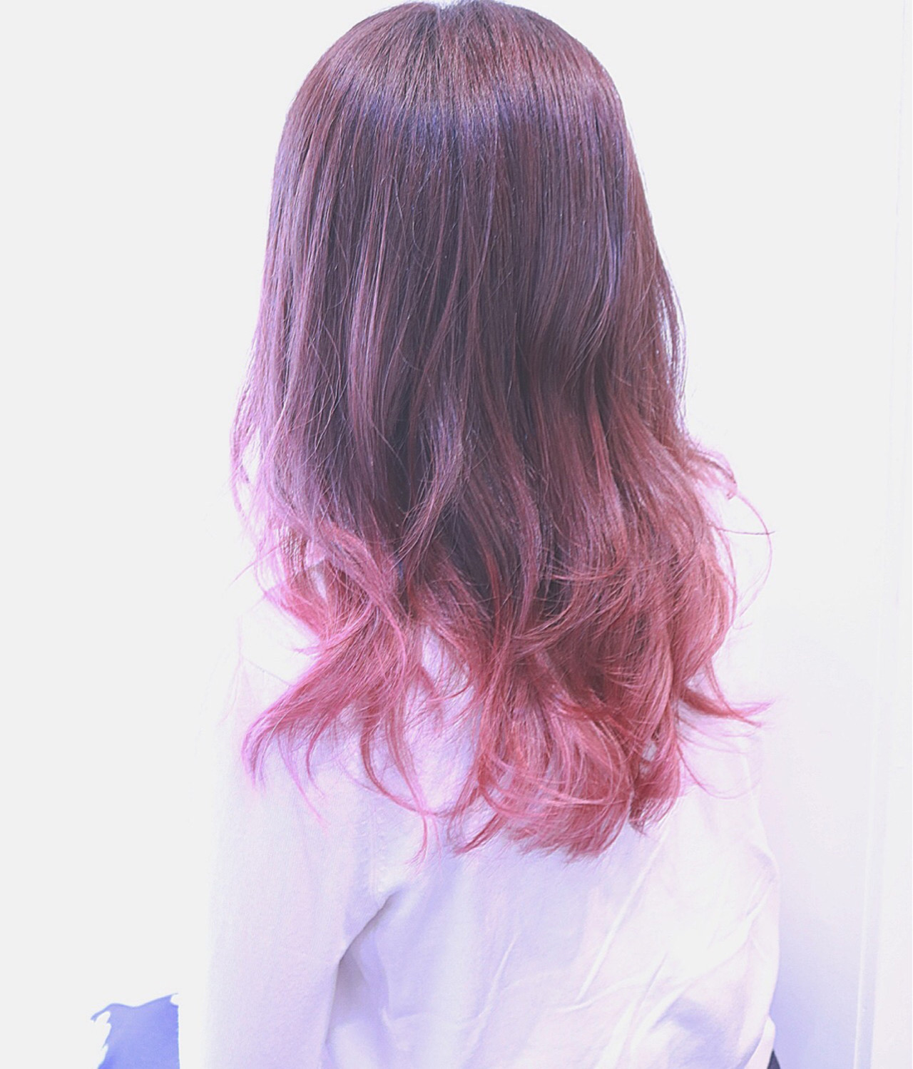 かわいい フェミニン ミディアム グラデーションカラー ヘアスタイルや髪型の写真・画像   RUMINA //高田ゆみこ / Rumina