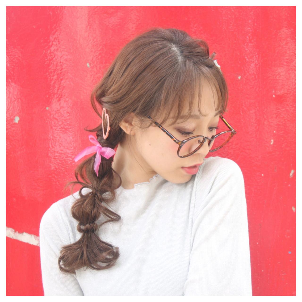 ガーリー ヘアアレンジ 編み込み ロング ヘアスタイルや髪型の写真・画像
