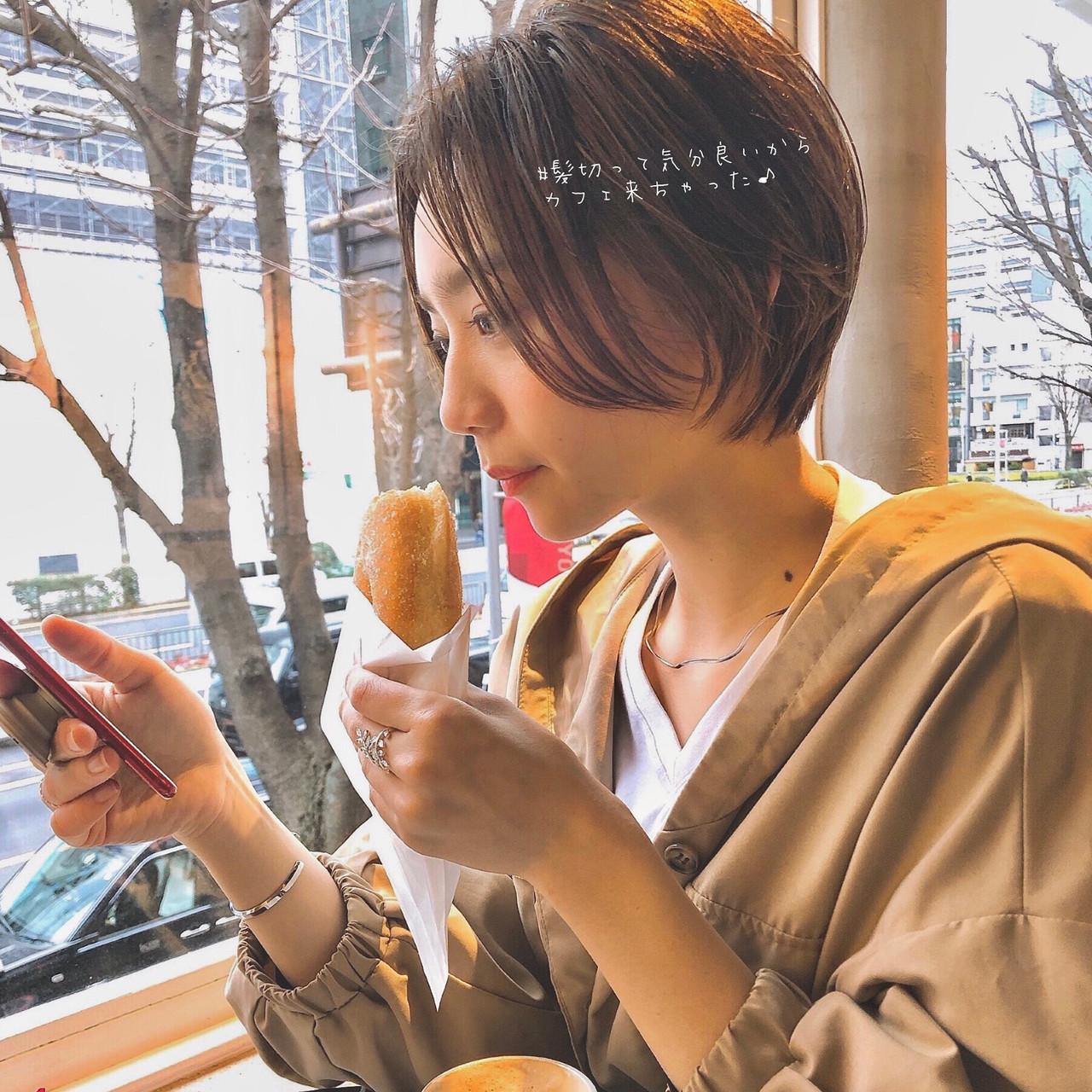 インナーカラー ショート 小顔ショート ハンサムショート ヘアスタイルや髪型の写真・画像   大上海人 / LAS omotesando