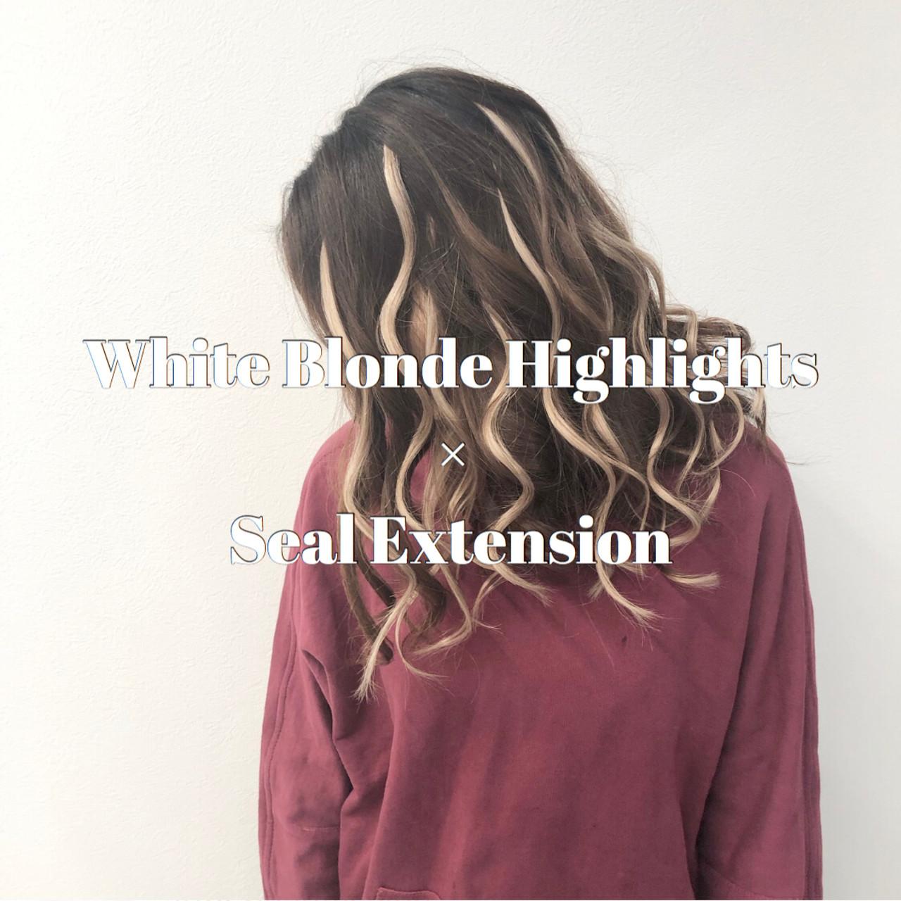 外国人風カラー セミロング ストリート 成人式 ヘアスタイルや髪型の写真・画像 | アンドウ ユウ / agu hair edge
