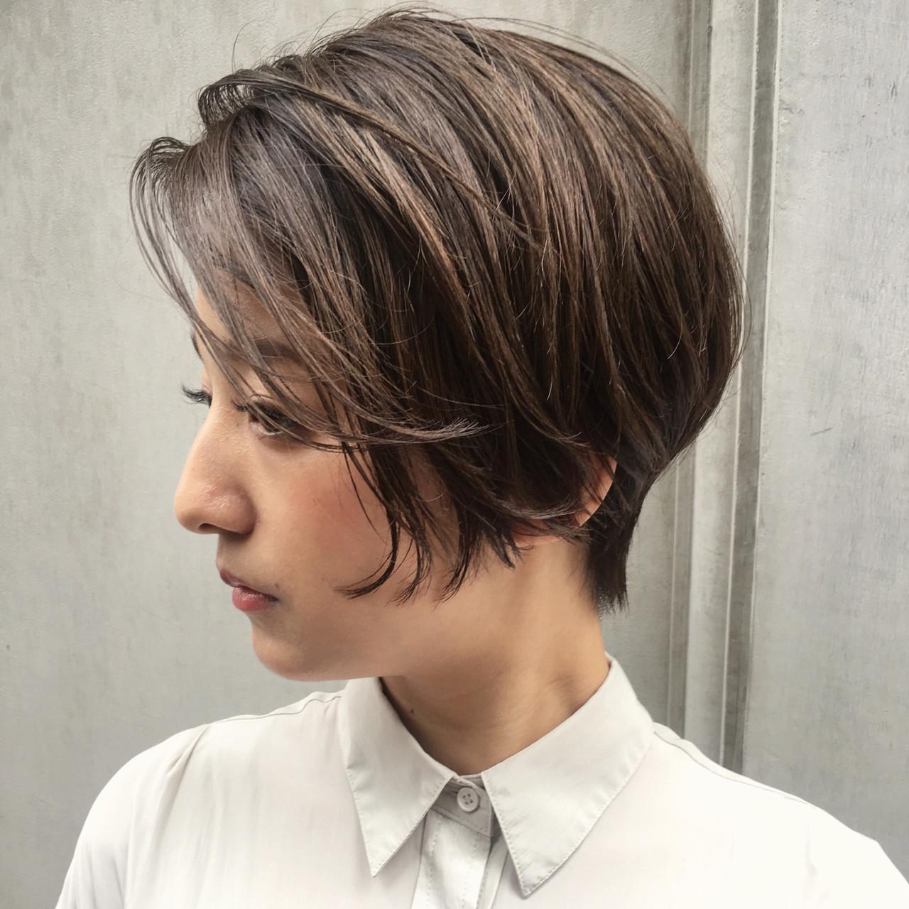 女子会 リラックス オフィス ナチュラル ヘアスタイルや髪型の写真・画像 | ショートボブの匠【 山内大成 】『i.hair』 / 『 i. 』 omotesando