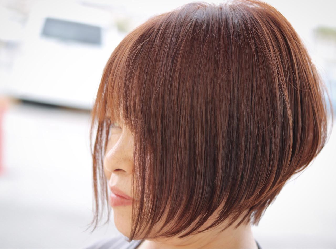 ショート ニュアンス ボブ エアリー ヘアスタイルや髪型の写真・画像