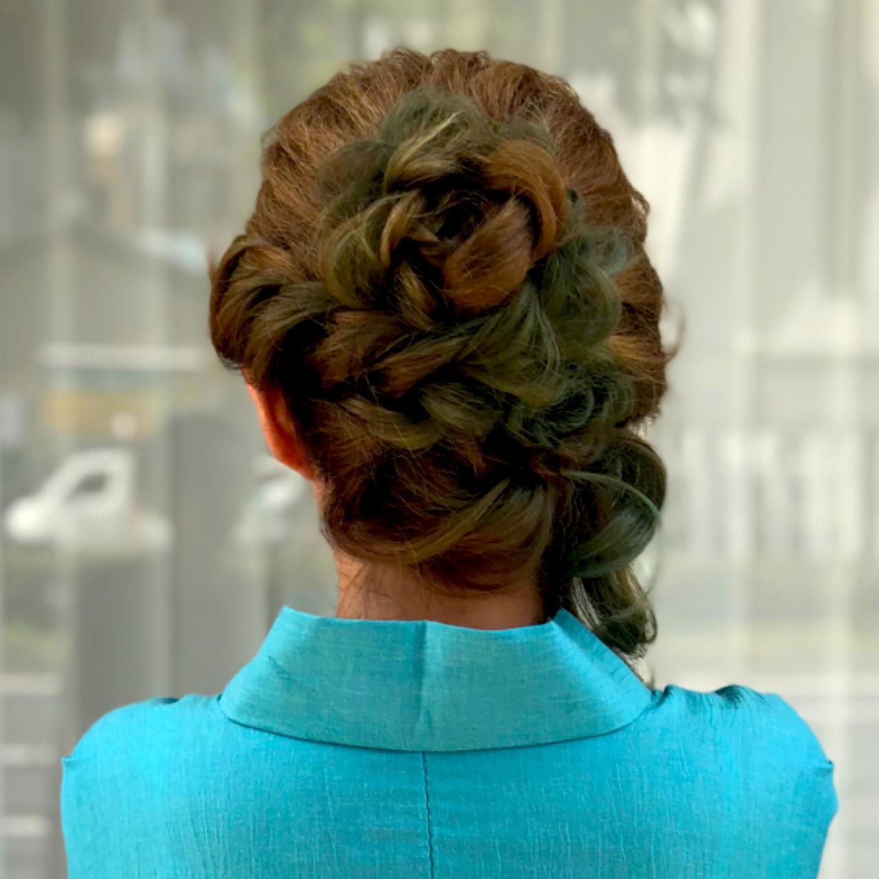 デート 上品 結婚式 成人式 ヘアスタイルや髪型の写真・画像