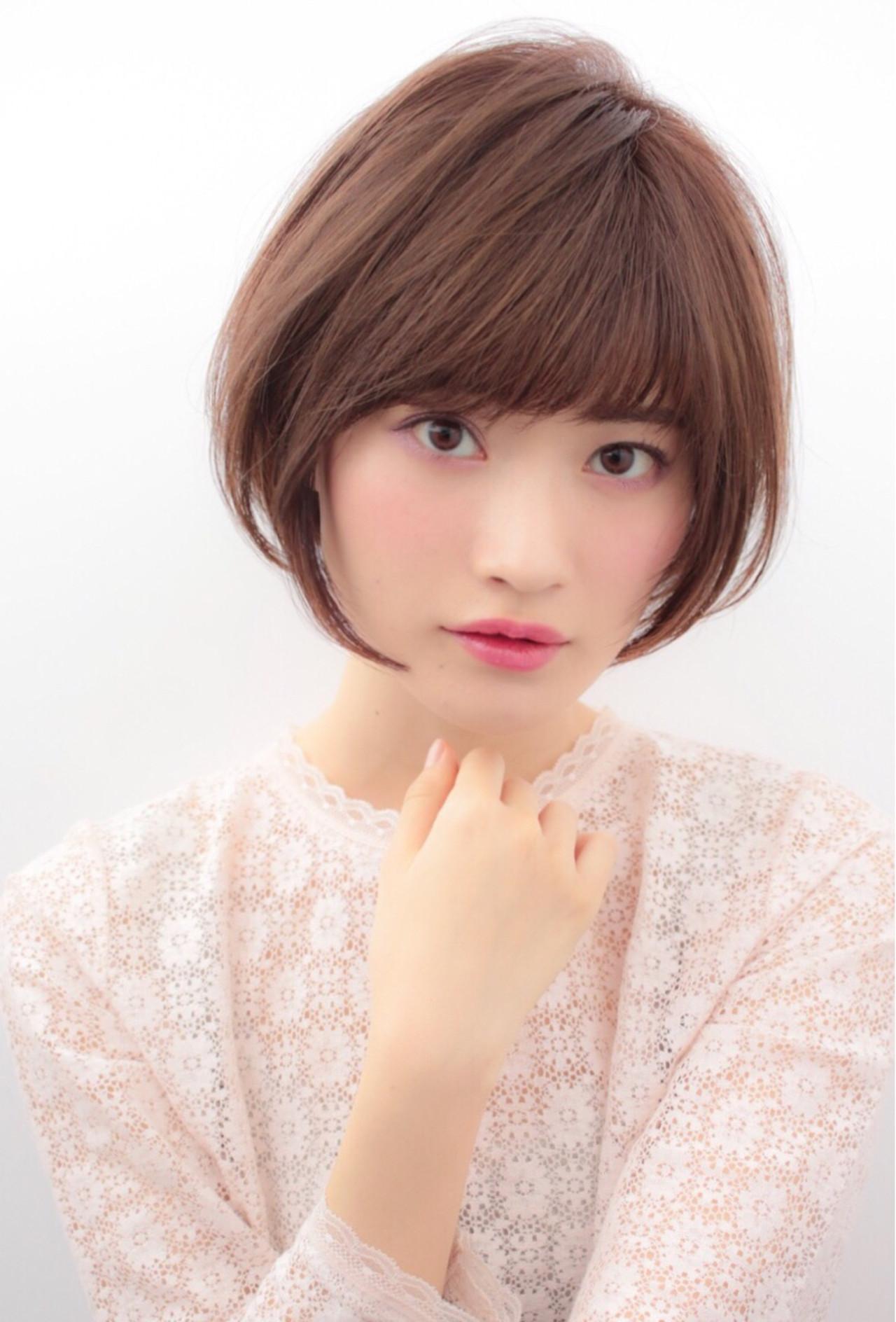 大人かわいい かわいい ショート ナチュラル ヘアスタイルや髪型の写真・画像 | 贄田清也 / Roamer