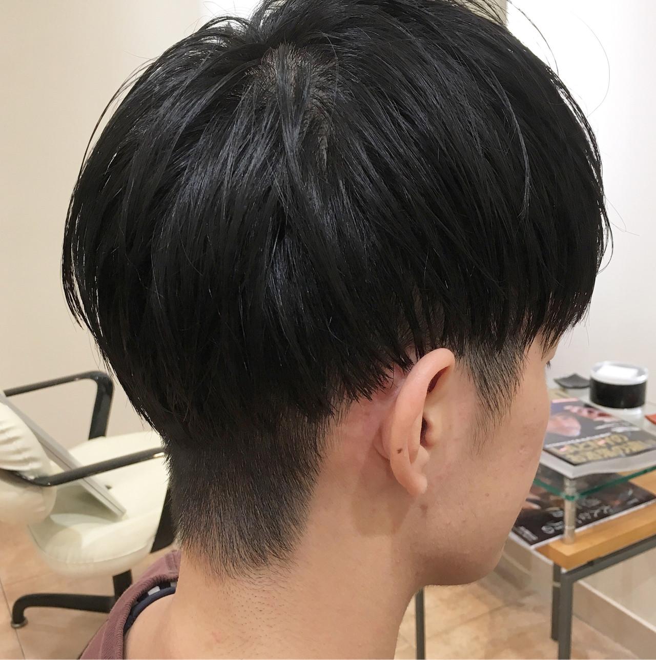 刈り上げ ツーブロック マッシュ ショート ヘアスタイルや髪型の写真・画像