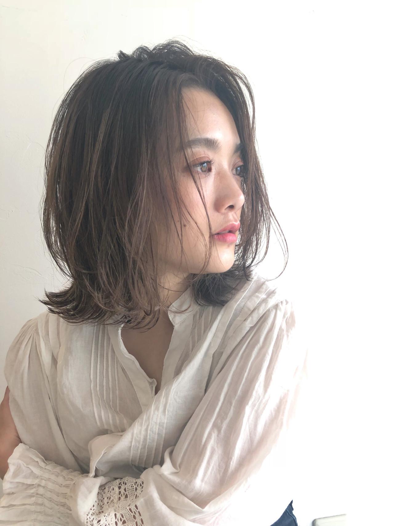 ナチュラル オフィス パーマ ボブ ヘアスタイルや髪型の写真・画像 | 吉田伊織 / NEUTRAL produced by GARDEN