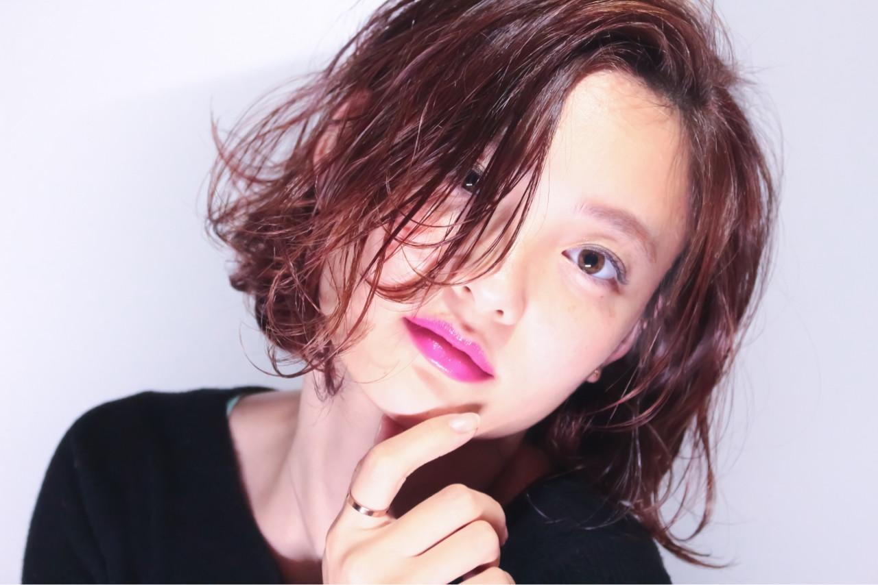 外国人風カラー 外ハネ ボブ ショート ヘアスタイルや髪型の写真・画像 | 重松はるき / HAIR 774