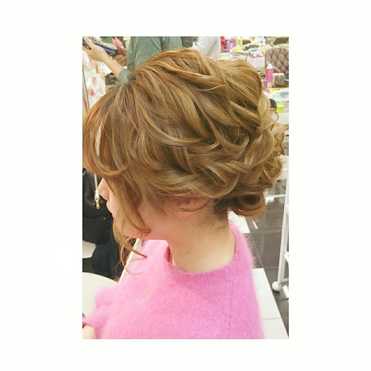 簡単ヘアアレンジ 大人かわいい ショート 大人女子 ヘアスタイルや髪型の写真・画像 | chisa* / CURE