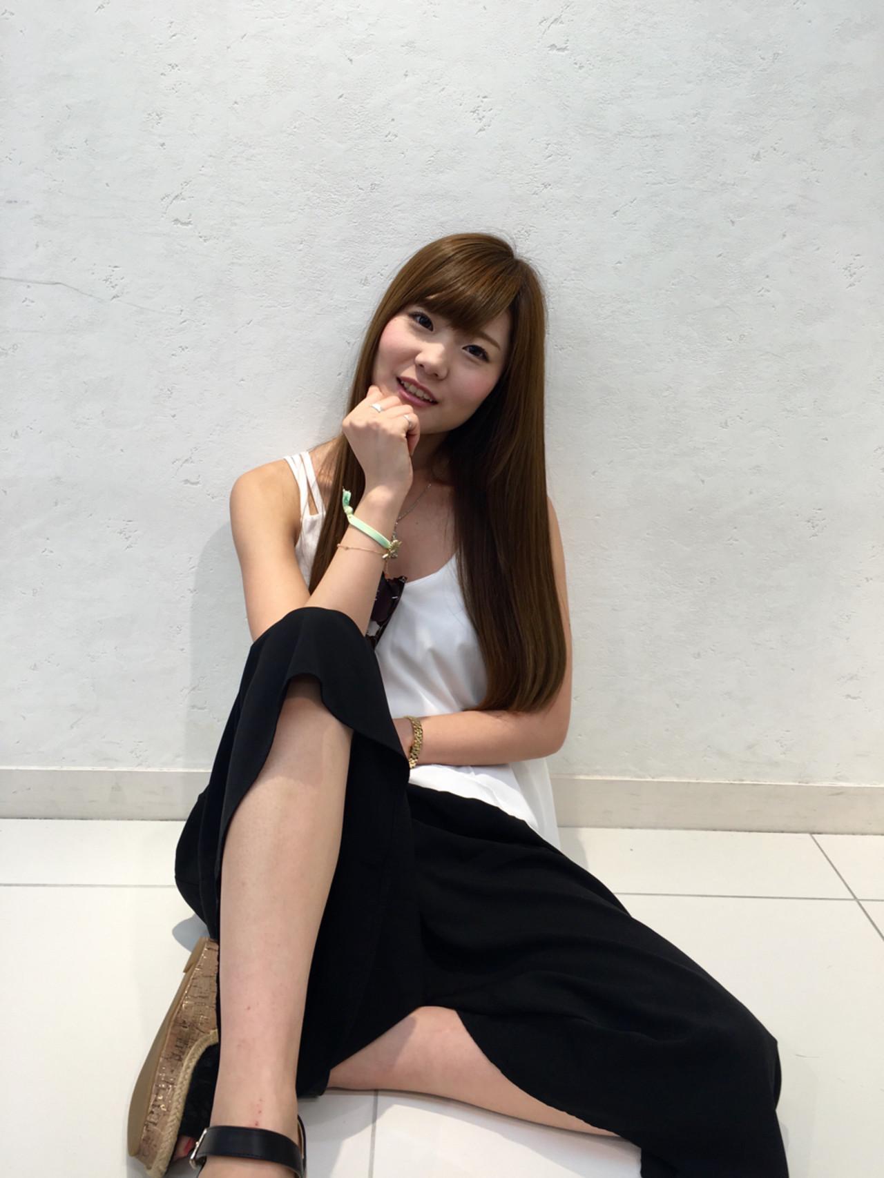 ハイライト ロング 外国人風 フェミニン ヘアスタイルや髪型の写真・画像